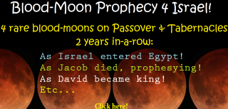 Blood-Moon Prophecy 4 Israel. (Lunar-Eclipse Tetrads on Feasts of Passover and Tabernacles)