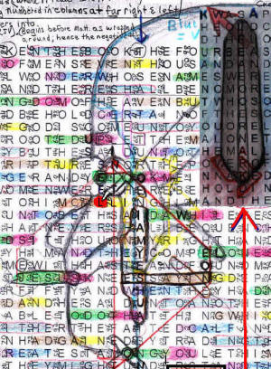 Composite of most images found in the KJV bible code. The temples are left out in this image so as not to overly tax the image.