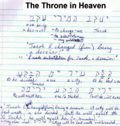 Throne in Heaven aspect of Cherub bible code.