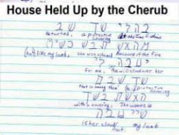 House held up by the Cherub aspect of  bible code.